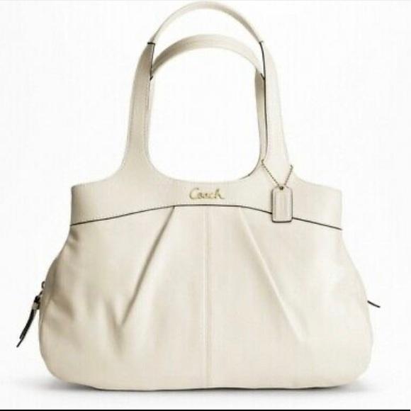 Women COACH Shoulder Bag,Offwhite Leather Lexi